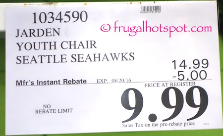 Jarden Coleman NFL Youth Quad Chair Seahawks Costco Price | Frugal Hotspot