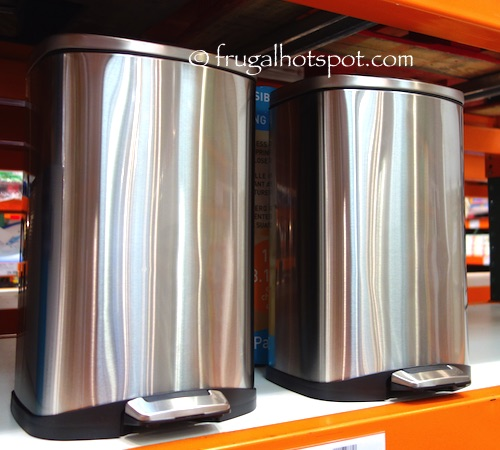 Sensible Eco Living Stainless Steel Trash Can 2-Pack Costco | Frugal Hotspot