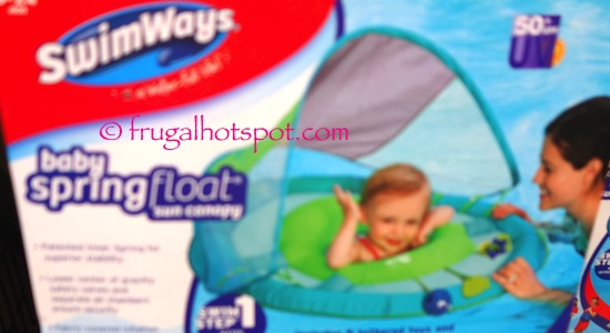 SwimWays Baby Spring Float with Sun Canopy Costco | Frugal Hotspot