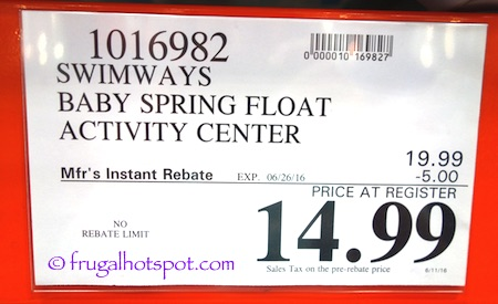 SwimwaysBabyFloatPrice SwimWays Baby Spring Float with Sun Canopy Costco Price | Frugal Hotspot