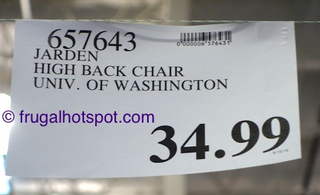 Jarden Oversized High-Back Chair (UW Huskies) Costco Price | Frugal Hotspot