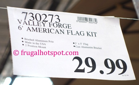 Valley Forge 6' United States Flag Kit Costco Price | Frugal Hotspot