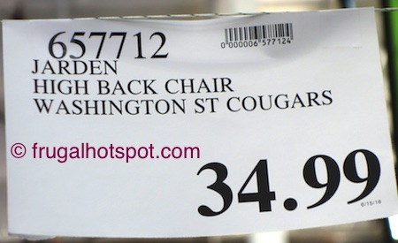 Jarden Oversized High-Back Chair (Washington State University Cougars) Costco Price | Frugal Hotspot