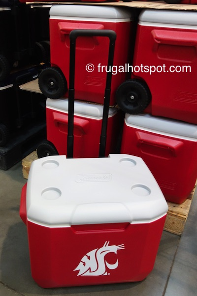 Coleman 60-Quart Officially Licensed Collegiate Wheeled Cooler (Washington State University Cougars) Costco | Frugal Hotspot