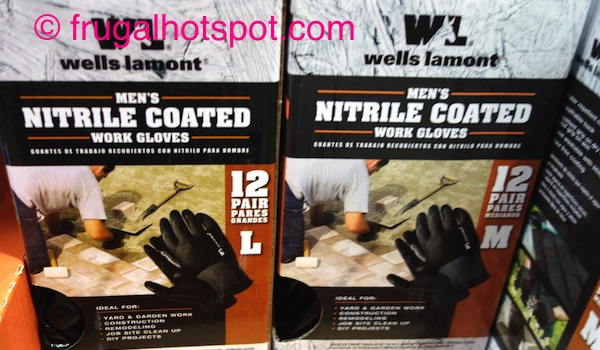 Wells Lamont Mens Nitrile Work Gloves 12-Pairs Costco | Frugal Hotspot