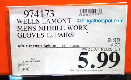 Wells Lamont Mens Nitrile Work Gloves 12-Pairs Costco Price | Frugal Hotspot