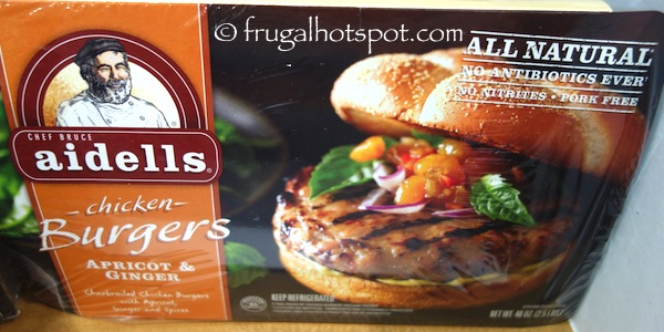 Aidells Apricot and Ginger Chicken Burgers Costco | Frugal Hotspot
