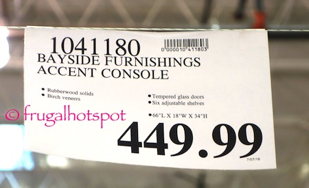 Bayside Furnishings Accent Console Costco Price | Frugal Hotspot
