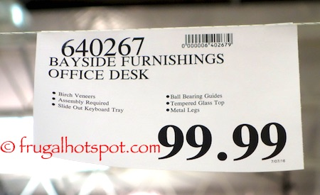 Bayside Furnishings Computer Desk Costco Price | Frugal Hotspot