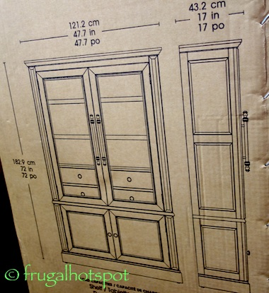 Bayside Furnishings Glass Door Bookcase Costco | Frugal Hotspot