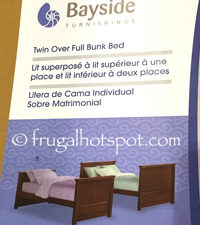 Bayside Furnishings Twin Over Full Bunk Bed Costco   Frugal Hotspot