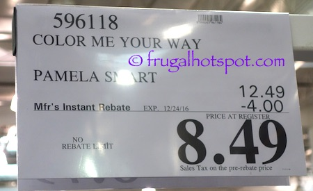 Color Me Your Way by Pamela Smart Costco Price   Frugal Hotspot