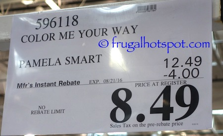 Color Me Your Way by Pamela Smart Costco Price | Frugal Hotspot