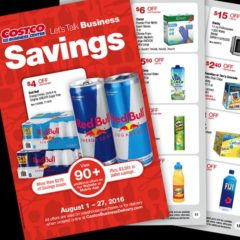 Costco Business Center Coupon Book: August 1, 2016 – August 27, 2016. Prices Listed.