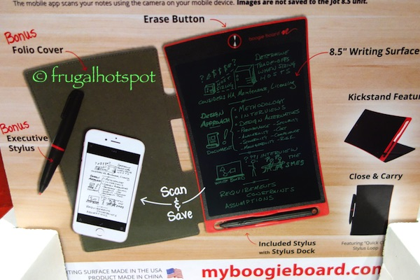 Boogie Board Jot 8.5 LCD E-Writer with Leather Folio and Stylus Costco | Frugal Hotspot