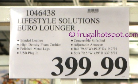 Lifestyle Solutions Euro Lounger Costco Price | Frugal Hotspot