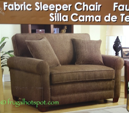 Synergy Home Twin Fabric Sleeper Chair Costco | Frugal Hotspot