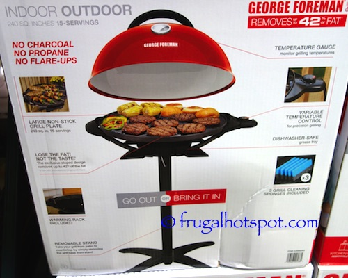 George Foreman Indoor Outdoor Electric Grill Costco | Frugal Hotspot