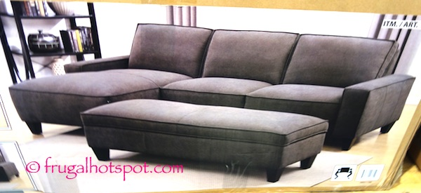 Gray Chaise Sofa with Storage Ottoman Costco | Frugal Hotspot