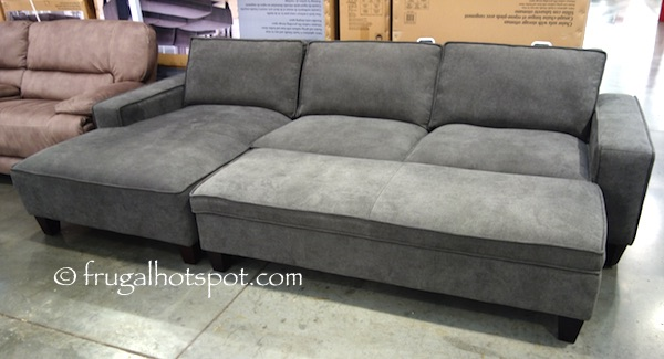 Costco Chaise Sofa Fabric Chaise Sofa With Storage Ottoman
