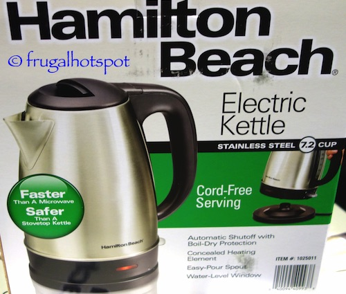Hamilton Beach Stainless Steel Electric Kettle (40993E) Costco | Frugal Hotspot