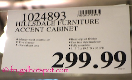 Hillsdale Furniture Accent Cabinet Costco Price | Frugal Hotspot
