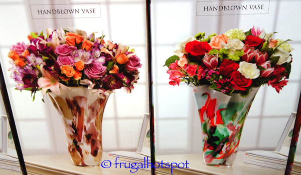Jozefina Handblown Glass Vase Costco | Frugal Hotspot