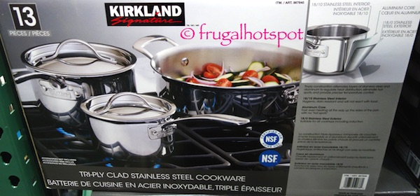 Kirkland Signature 13 Piece Tri Ply Stainless Steel Cookware Costco Frugal Hotspot