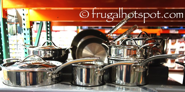 Kirkland Signature 13-Piece Tri-Ply Stainless Steel Cookware Costco | Frugal Hotspot