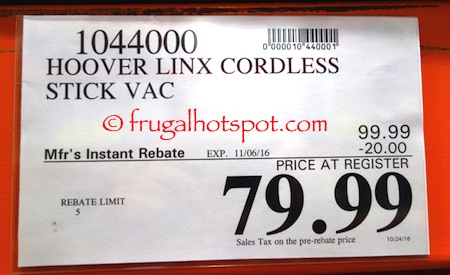 Hoover Linx Cordless Stick Vac Costco Price | Frugal Hotspot