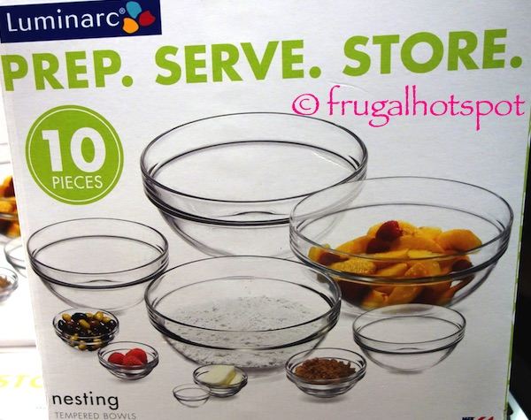 Luminarc 10-Piece Nesting Tempered Glass Bowls Costco | Frugal Hotspot