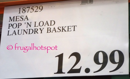 Mesa Pop & Load Collapse & Store Laundry Basket Costco Price | Frugal Hotspot