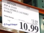 Pop Load Laundry Basket Costco Sale Price
