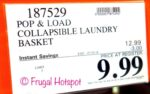 Costco Sale Price: Mesa Pop & Load Collapse & Store Laundry Basket