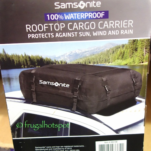 Samsonite Waterproof Rooftop Soft-side Cargo Carrier Costco | Frugal Hotspot
