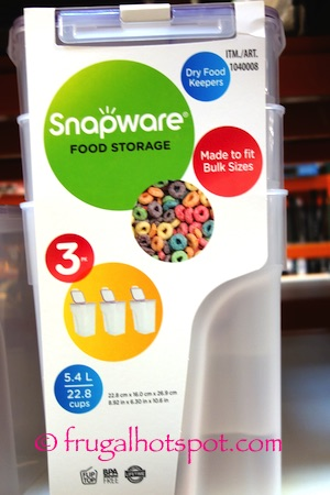 SnapwareCerealLeftSnapware 3-Pack Cereal Keeper Costco | Frugal Hotspot