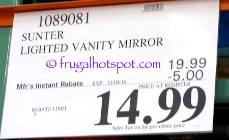 Sunter Lighted Vanity Mirror Costco | Frugal Hotspot