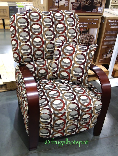 Accent Chairs Clearance Costco Sale: Synergy Home Wood Arm Recliner $239.99 ...