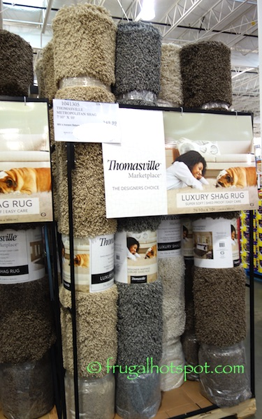 "Thomasville Marketplace Shag Rug 7'10"" x 10' Costco 