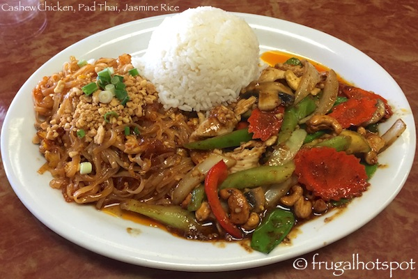 Ting Tong Thai Cafe Cashew Chicken, Pad Thai, Jasmine Rice Lunch Combo