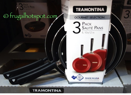 Tramontina Gourmet Selection 3-Pack Saute Pans Costco | Frugal Hotspot
