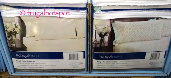Tranquil Nights 6-Piece Queen Size Sheet Set Costco | Frugal Hotspot