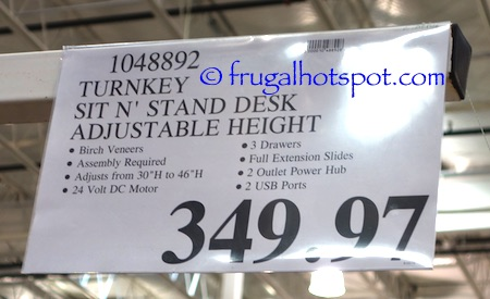 Turnkey Powered Sit 'n Stand Desk Costco Price | Frugal Hotspot