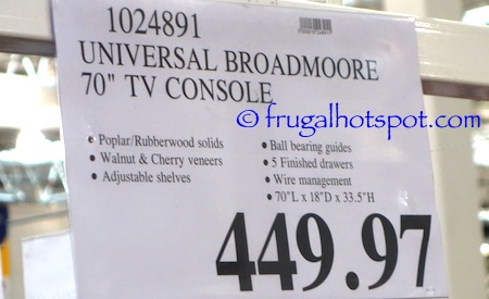"Universal Broadmoore 70"" TV Console Costco Price 