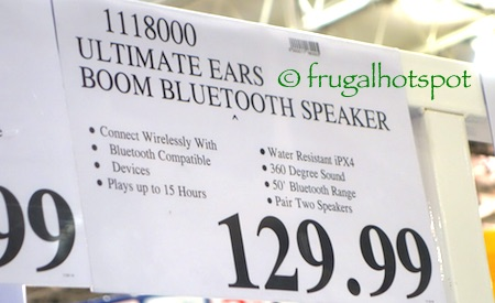 Ultimate Ears Boom Portable Bluetooth Speaker Costco Price | Frugal Hotspot