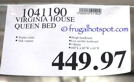 Virginia House Queen Bed Costco Price | Frugal Hotspot