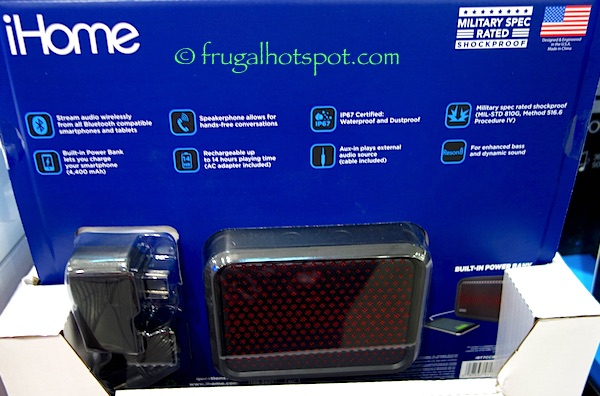 iHome IBT7 Portable Wireless Stereo Speaker Costco | Frugal Hotspot