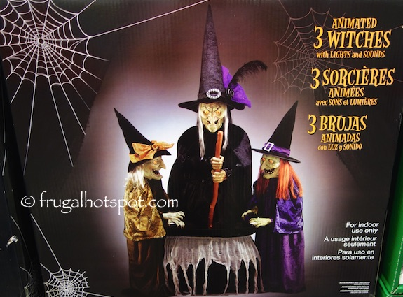 3 Animated Witches with Lights and Sounds Costco | Frugal Hotspot