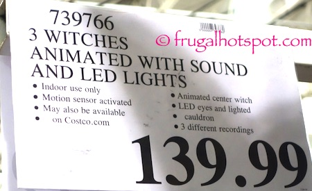 3 Animated Witches with Lights and Sounds Costco Price | Frugal Hotspot