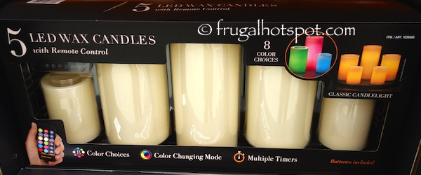 Flameless Candles Costco Simple Costco Sale 60 Color Changing LED Wax Candles 6060 Frugal Hotspot